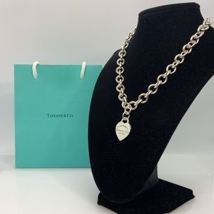 Please Return to Tiffany & Co. Heart tag Necklace